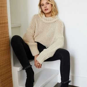 Free people my only sunshine loose knit sweater